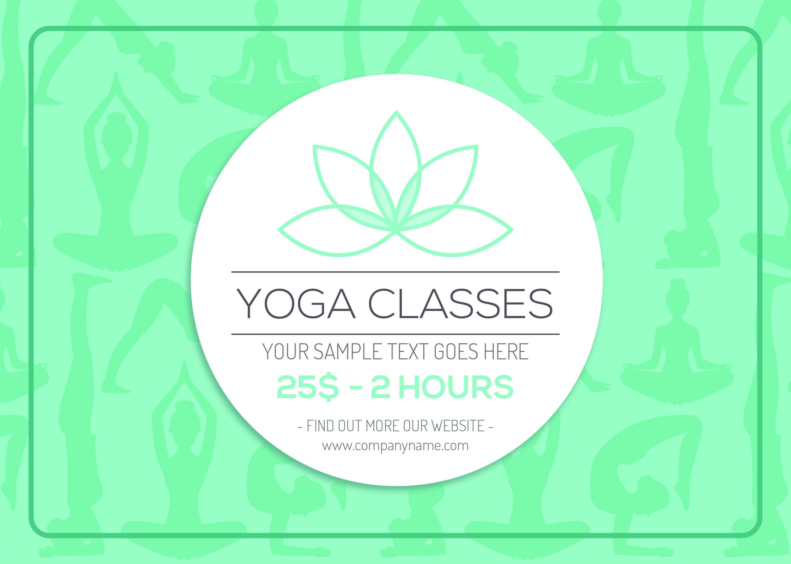 Yoga Brochure Templates Free Costumepartyrun