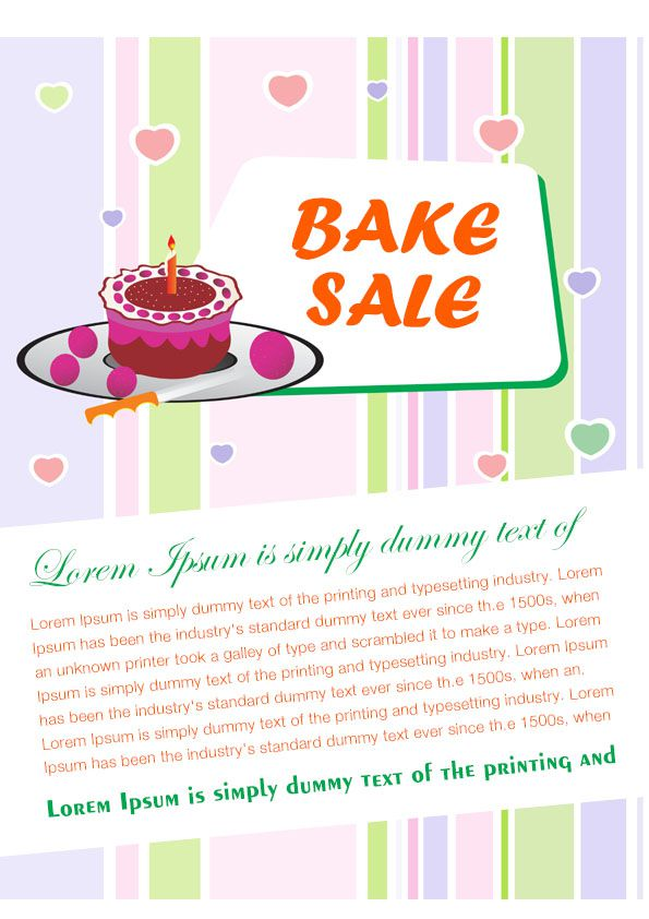 Engaging Free Bake Sale Flyer Templates for Fundraising Events