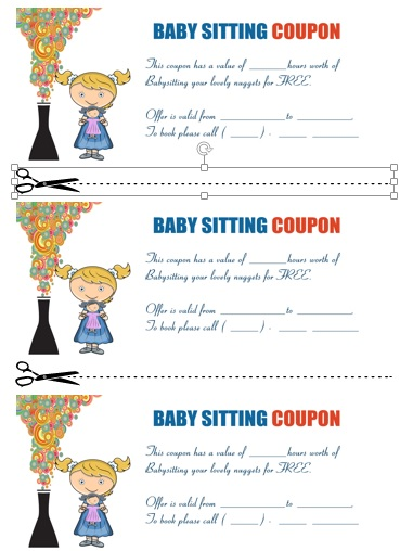 Babysitting Coupon Book Template Gallery - Template Design Ideas - payment coupon book template