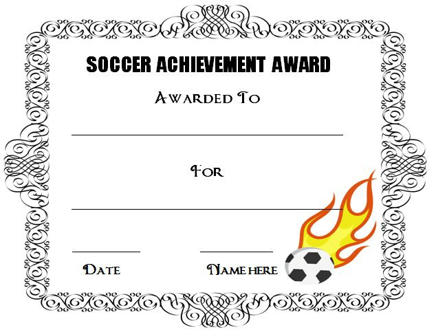 30 Soccer Award Certificate Templates - Free to Download  Print