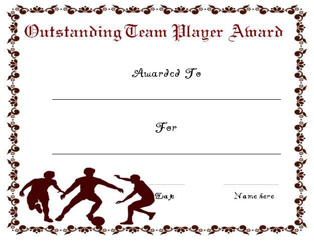 Soccer Award Certificate Printables - Best Design Sertificate 2018