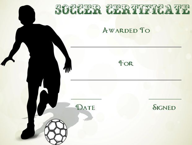30 Soccer Award Certificate Templates - Free to Download  Print - soccer certificate template