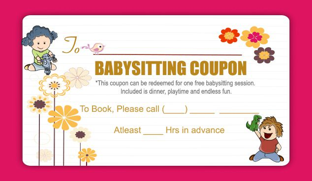 20 Free Babysitting Coupon Templates to Skyrocket Your Child Care - babysitting pass