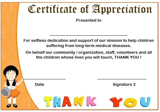 10 Elegant Certificate of Appreciation for Donation Templates  Free