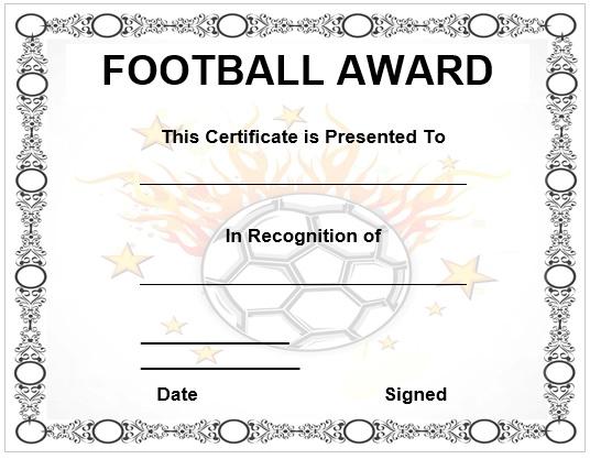Football Certificate Template free certificate of participation - certificate of participation free template
