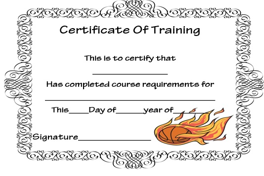27 Professional Basketball Certificate Templates - Free Printable - certificate templates word
