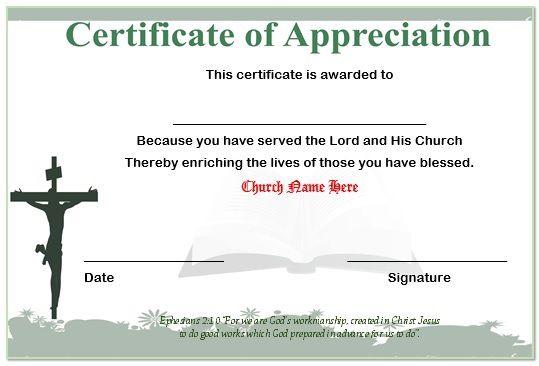 13 Volunteer Appreciation Certificates  Free Printable Word