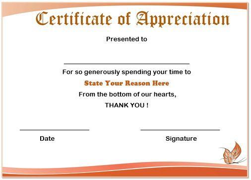 volunteer certificate template free trattorialeondoro