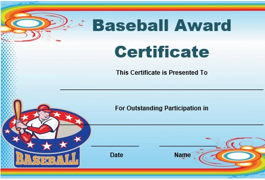 baseball award certificate template - Minimfagency
