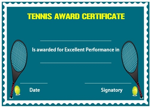 25 Free Tennis Certificate Templates - Download, Customize  Print - tennis flyers templates free