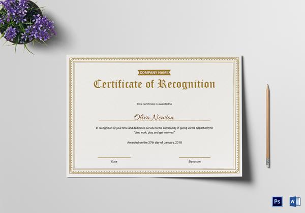 employee recognition template - Josemulinohouse - employee recognition certificate template