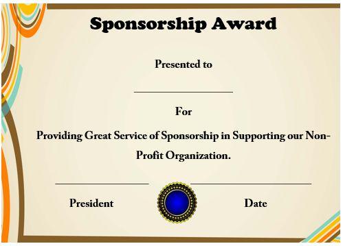 sponsorship certificate of appreciation 3slufsluidsprekers
