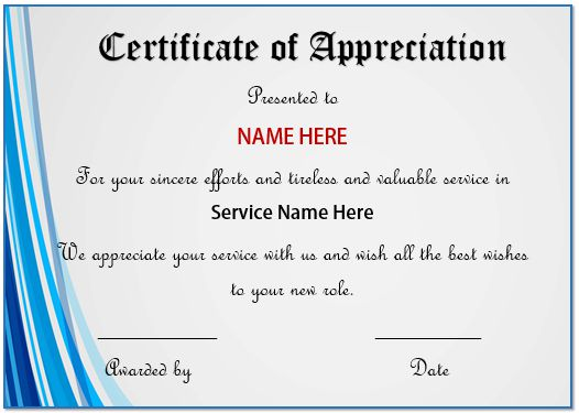 20 Free Certificates Of Appreciation For Employees  Editable