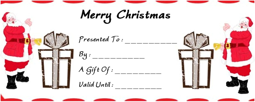 Christmas Gift Certificate Templates - 31+ Word, PSD Templates