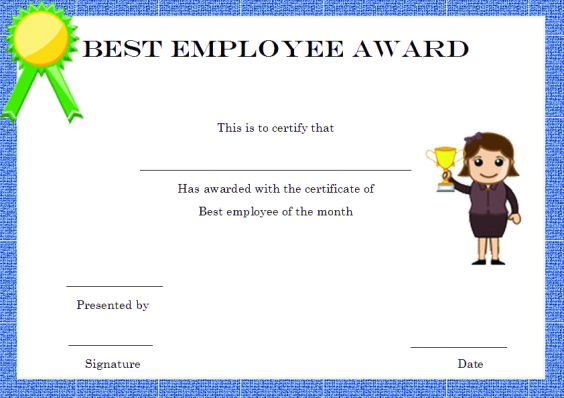 Elegant and Funny Employee of the Month Certificate Templates  Free - best of free funny employee awards printable certificates