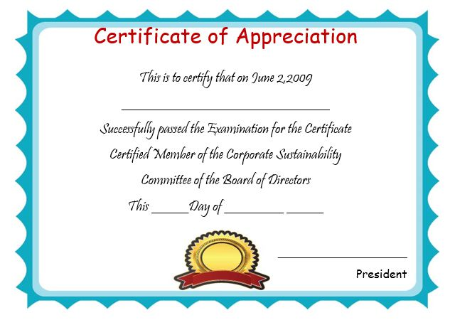 50+ Professional Free Certificate of Appreciation Templates For - certificate of appreciation