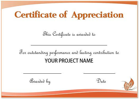 50+ Professional Free Certificate of Appreciation Templates For - certificate of appreciation template for word