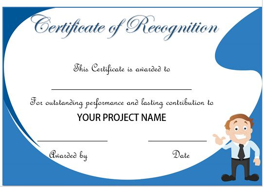 certificate of recognition for years of service - Josemulinohouse
