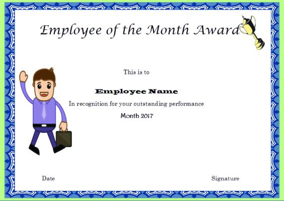 Elegant and Funny Employee of the Month Certificate Templates  Free - free employee of the month certificate template