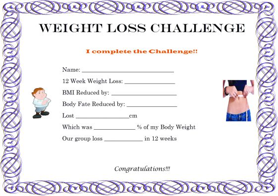 Weight Loss Certificate Template - Erieairfair