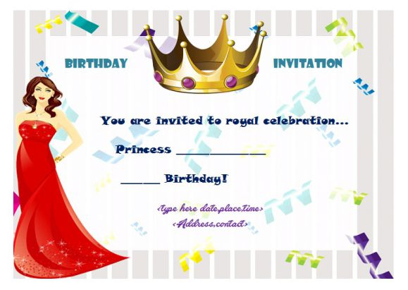 25 Princess Birthday Party Invitation Templates Theme  Party Ideas