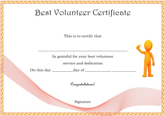 Download Volunteer Certificates the Right Way (19 Free Word