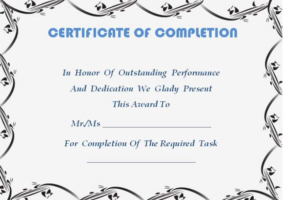 certificate of completion template word - Onwebioinnovate - certificate of completion template word