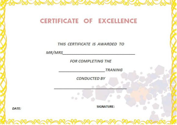 training certificate of completion - Josemulinohouse