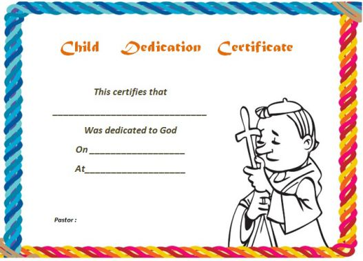 26 Free Fillable Baby Dedication Certificates in Word (Stunning