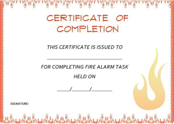 Certificate of completion template  55+ Word Templates Editable - certificate of completion of training template