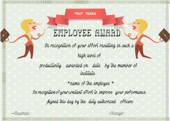 Employee Anniversary Certificate Template (12+ Professional Word