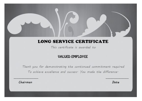 12+ Free Long Service Award Certificate Samples (Wordings
