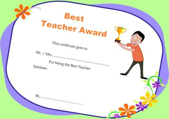 Teacher Of The Month Certificate Templates  11+ Word Award