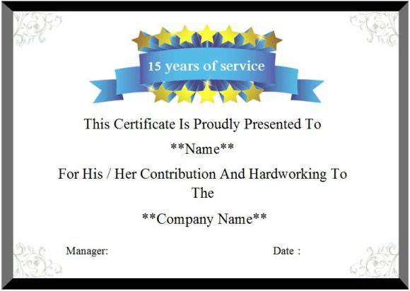 24 Certificate of Service Templates for Employees (Formats, Wording - sample certificate of service template