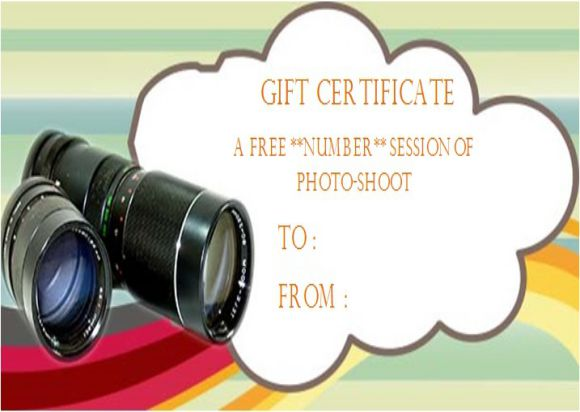 Photography Gift Certificate Template 27+ PSD, Word Templates