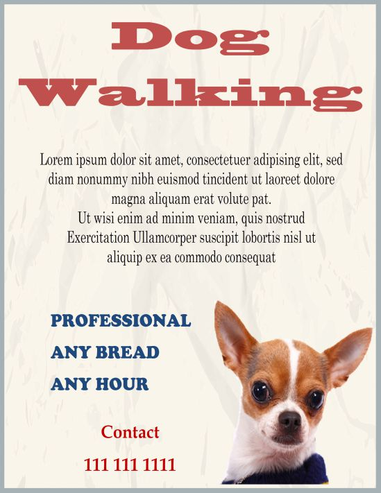 Dog Walking Business Cards Free Choice Image - Business Card Template