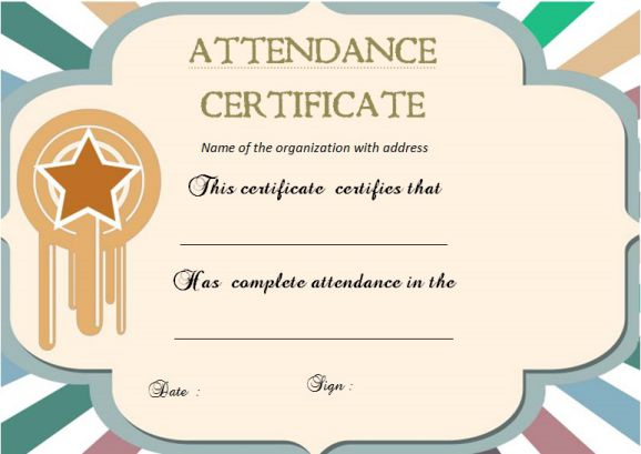 21 Best Certificate of Attendance Templates For Your Events - Demplates