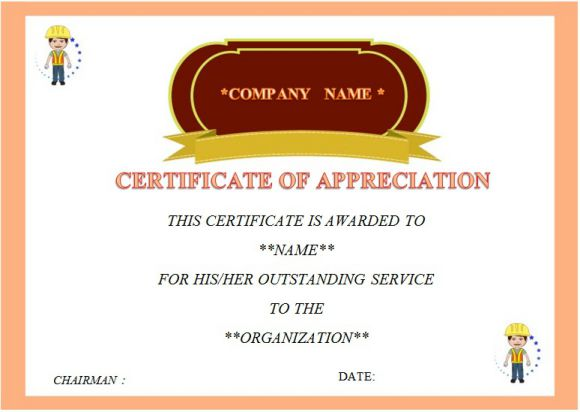 24 Certificate of Service Templates for Employees (Formats, Wording