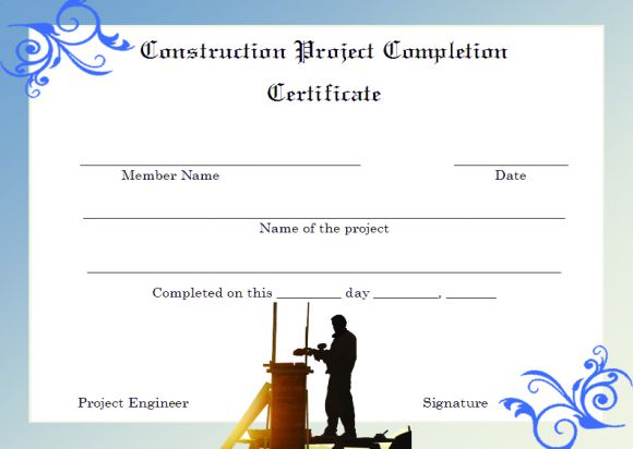 Completion Certificate Format kicksneakers - Project Completion Certificate Format