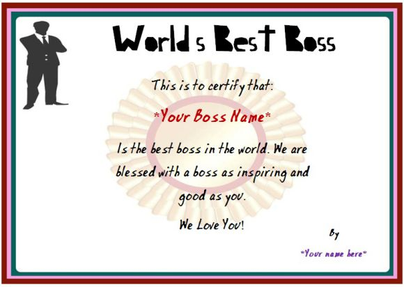 Boss Day Certificate of Appreciation  10+ Templates to Impress Your