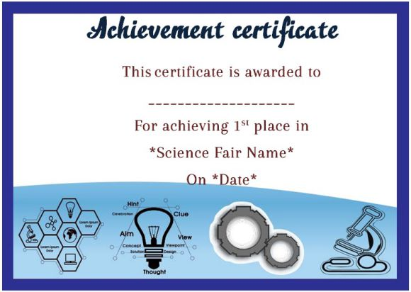 Science Fair Certificates  14+ Printable Full Color Certificates