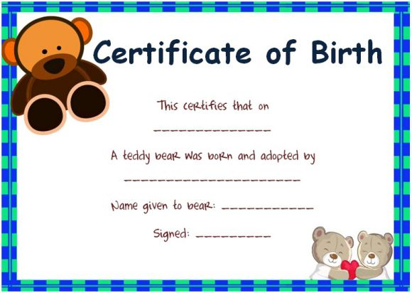 Toy Adoption Certificate Template  13+ Free Word Templates - blank adoption certificate template