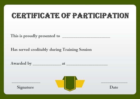 13+ Training Participation Certificate Templates - Free Download