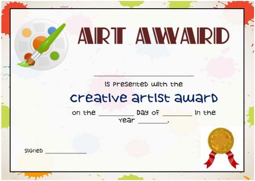 20 Art Certificate Templates (To Reward Immense Talent in Artwork