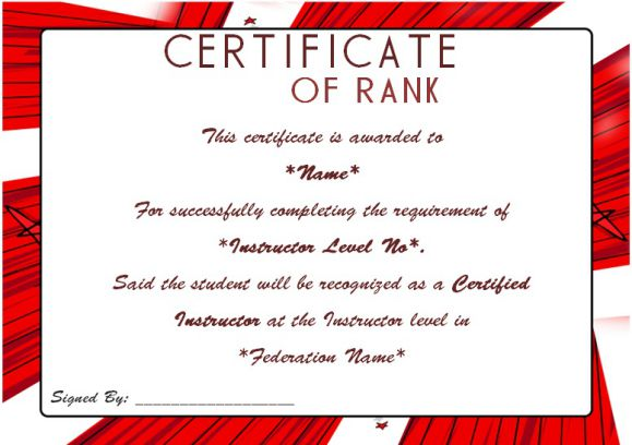 Martial arts award certificates\u2013 20 + Different Templates for you to - certificate of rank template
