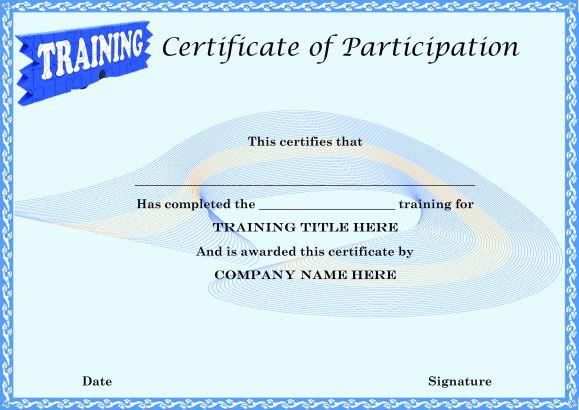 Certificate of participation template \u2013 25 + Downloadable Template - design of certificate of participation