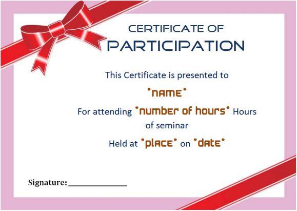 seminar certificate of participation xv-gimnazija