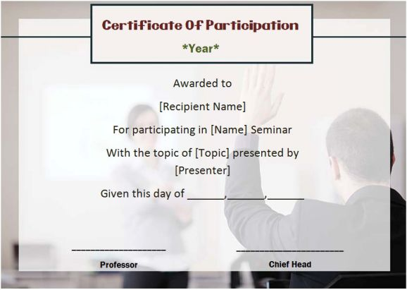 template certificate of participation - Josemulinohouse - certificate of participation template
