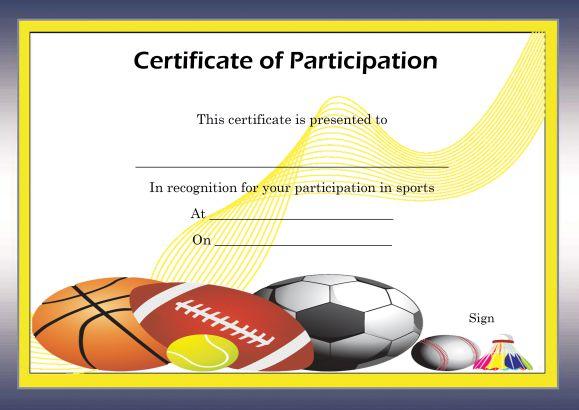 Certificate of participation template \u2013 25 + Downloadable Template - free certificate of participation template
