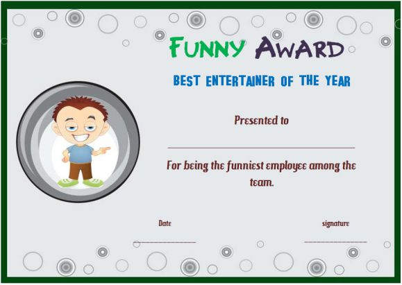 25+ Downloadable and Printable Funny End of the Year Awards for